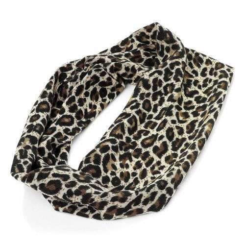 Brown Animal Print Wide Headband Bandeaux